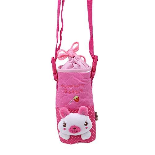 Ogquaton, copertura per bottiglia di acqua di alta qualità per bambini, carino portabottiglie a forma di animale, custodia per bottiglia di acqua fredda e calda, in plastica, facile da trasportare