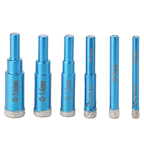 Durlclth Diamond Hole-6Pcs Diamond Hole Saw Drill Professional Marble Hole Opener Bits Industrial Supplies