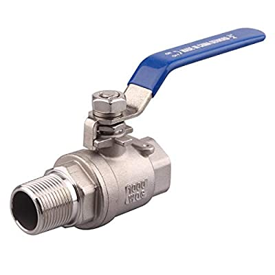 DERNORD Full Port Ball Valve 3/4 Inch - Male x Female Stainless Steel 304 Heavy Duty for Water, Oil, and Gas,1000WOG (3/4 Inch NPT) by DERNORD