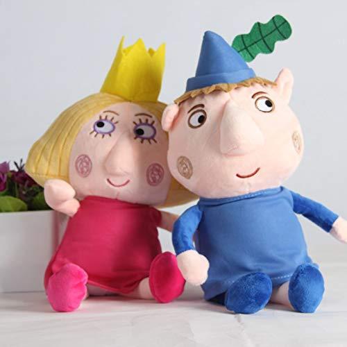 Peluche 2 Piezas 30 Cm Juguetes De Peluche Dibujos Animados Little Kingdom Ben Holly Figuras Muñecas Cumpleaños Niños Regalo