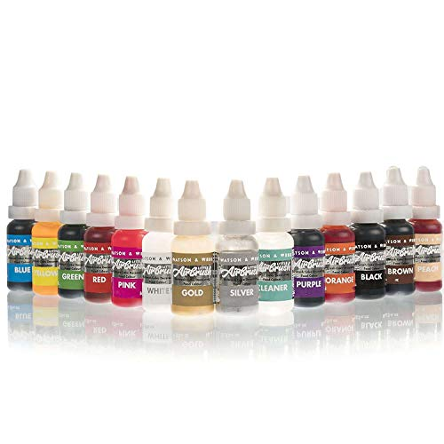 Airbrush Cake Decorating Colours | 13 x 14ml Complete Set of Watson & Webb...