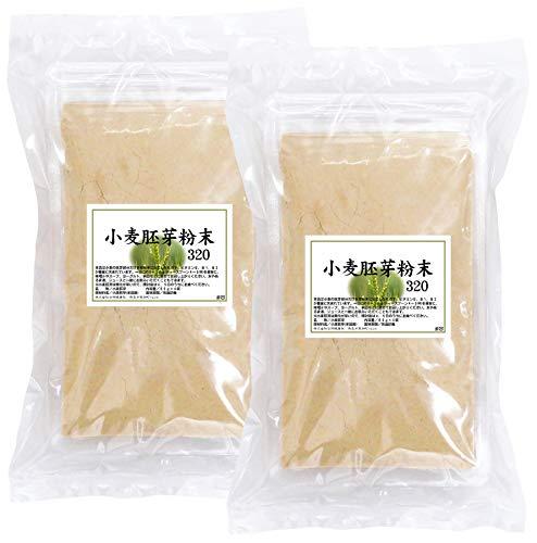 自然健康社 小麦胚芽粉末 320g(80g×4袋)×2個 チャック付き袋入り