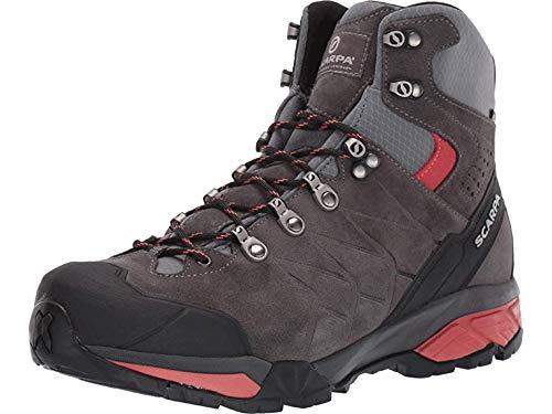 SCARPA Women's ZG Trek GTX Backpacking Boot - Titanium/Red Ibiscus - 8