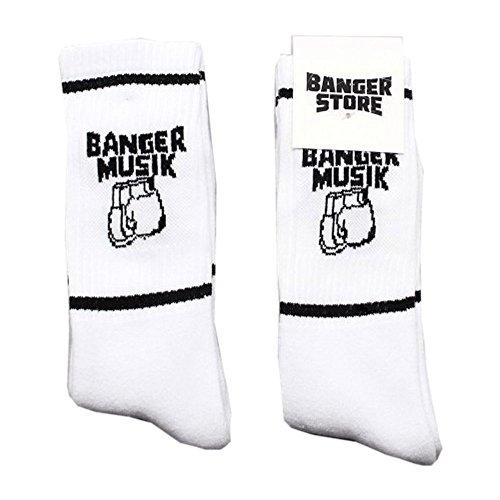 Banger Musik Socken (ein Paar) (Weiß)