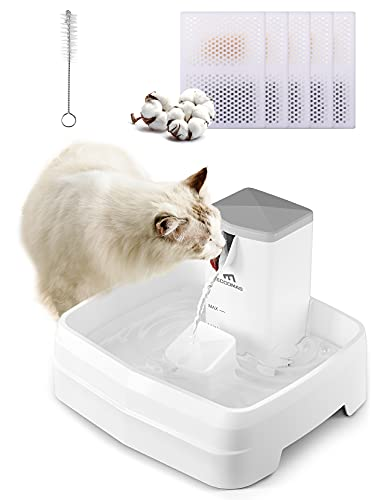 eccomas Dog Water Fountain, 3.1L/104Oz Cat Water Fountain with Faucet Mode & Dishwasher-Safe Design,Fresh Free-Flowing Stream,Running Water Cat Fountain with 5 Replacement Filters for Cats Dogs