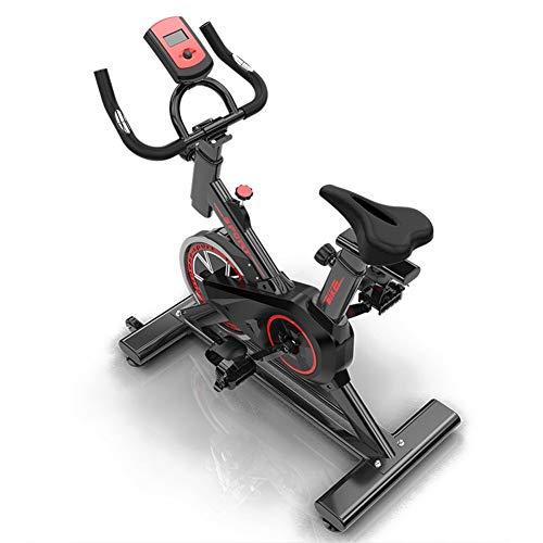 GONGYBZ Bicicleta Estática,Entrenamiento Fitness, Cardiovascular, Ciclismo, hogar, Gimnasio, Monitor LED, Unisex
