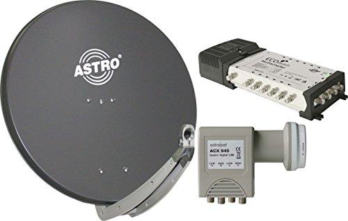 ASTRO ASP85APAKET12TLN Spiegel mit LNB und Multischalter 5/12