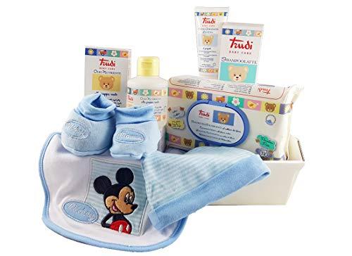 Kit regalo Igiene Trudi Baby Care Nascita Neonato (topolino celeste SZ0204WD)