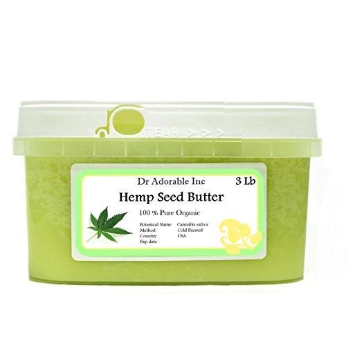 Hemp Seed Butter Organic 100% Pure Raw 48 Oz / 3lb