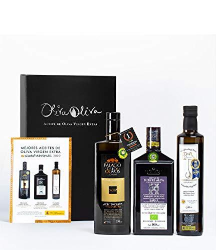 3 Mejores Aceites de Oliva Virgen Extra de España 2020 - Palacio de los Olivos | Cortijo de Suerte Alta | Escornolbou Gourmet - Cosecha 2020-2021 por Oliva Oliva