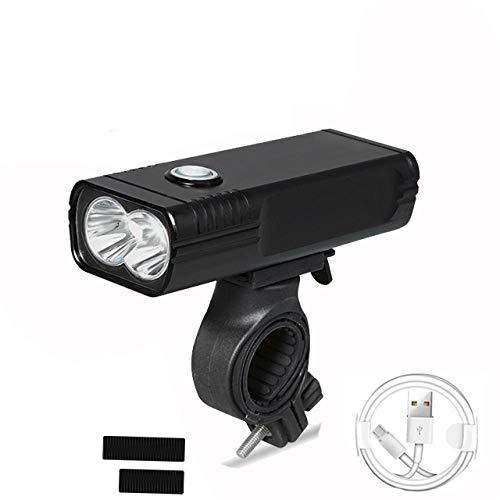 SFBBBO luz Bicicleta Luz de Bicicleta L2 / T6 USB Recargable 5200mAh Luz de Bicicleta IPX5 Faros Delanteros LED a Prueba de Aguacomo Banco de energía Accesorios de Bicicleta 3800mAh
