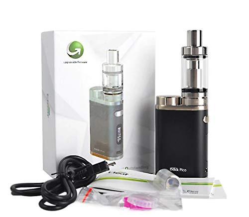 E-Zigarette Eleaf iStick Pico TC 75 Watt/MELO 3 Verdampfer 4ml Komplett Set, schwarz (Full Kit) ohne Nikotin