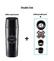 ミニ濃縮ポータブル電気USBホットコールド抽出コーヒーマシンミニエスプレッソコーヒーカプセルカップ(2019年アップグレード)