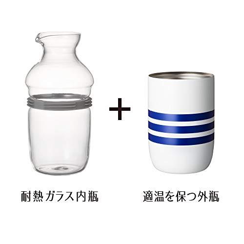 ドウシシャ徳利ホワイト360mlON℃Zone(オンドゾーン)飲みごこちとっくり線OZNN-360SE