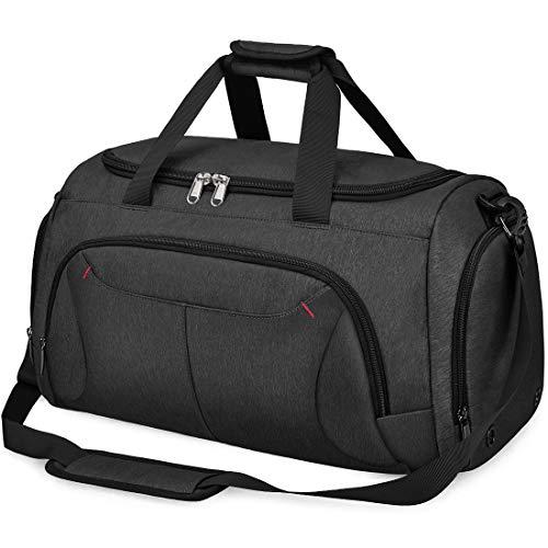 NUBILY ボストンバッグ メンズ ダッフルバッグ YKK 修学旅行 ジムバック 大容量 スポーツバッグ 旅行 防水 40L 2way 黒