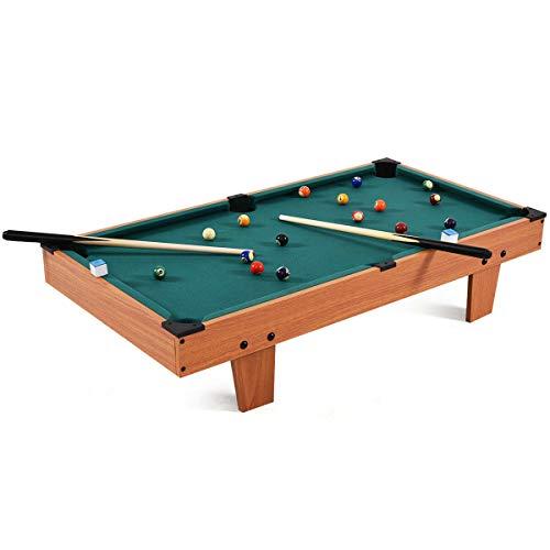 "Goplus Mini Pool Table Tabletop Billiard Game Set w/ Cues Balls 48"" and 36"" (Green 36"")"