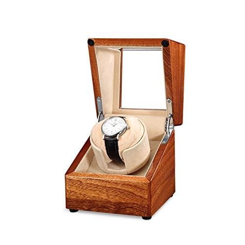 zyy Devanadera de reloj automático con motor súper silencioso y ajuste de modo de rotación de 5 almohadas de felpa flexibles para reloj tridimensionales adecuadas para mujeres y hombres de muñeca
