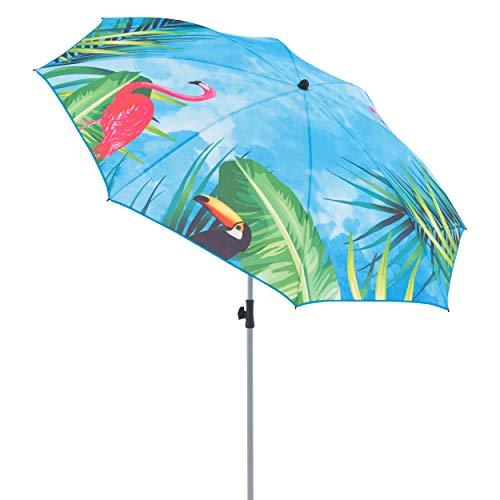 Doppler GS Basic 200 - Sonnenschirm für Balkon oder Garten - Regenabweisend - Knickbar - ca. 200 cm - Flamingo