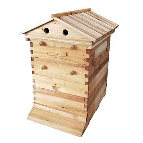Abeilles à Miel Automatique Hive Beehive Rucher Prey House Farm Maison de Couvée Super Apicole de Cedarwood 7 Nids D'abeilles