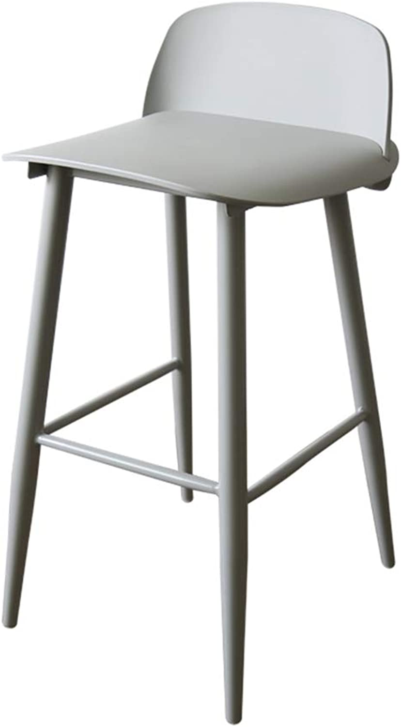 ZHIRONG Bar Stool Nordic Fashion High Stool Restaurant Breakfast Chair (color   04)