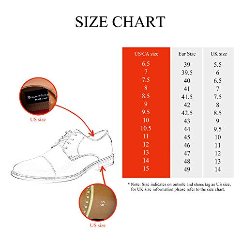 BRUNO MARC NEW YORK Gordon Mens Formal Classy Snipe Toe Lace Up Leather Lining Oxford Dress Shoes