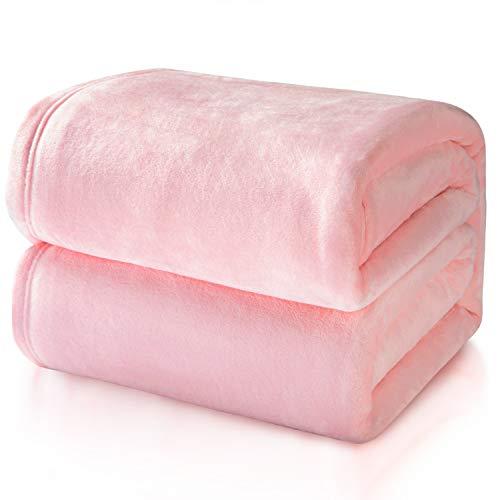 Bedsure Kuscheldecke Rosa große Decke Sofa, pink/Altrosa Fleecedecke als Sofadecke/Couchdecke, kuschel Wohndecken Kuscheldecken, 230x270 cm extra flaushig und plüsch Sofaüberwurf Decke