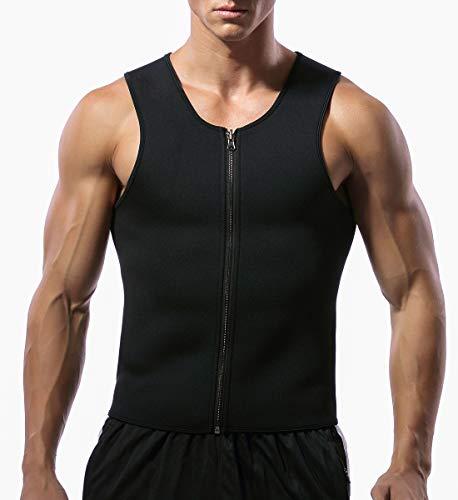 SLIMBELLE Men Sweat Sauna Vest Slimming Sauna Suit Workout Tank Top Shapewear Sweat Vest Waist Trainer for Weight Loss