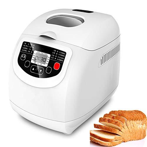 FMXYMC Brotbackautomat, automatische multifunktionale Brotmaschine aus schnellem Edelstahl mit 19 Programmen, 3 Krustenfarben, 15-Stunden-Verzögerungstimer, 550 W.
