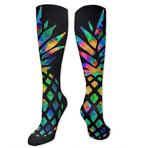 Lässige modische Socken für Damen, Teenager, medizinisch/Stillen/Wandern/Flug/Fitness – bunte Ananas-Strümpfe