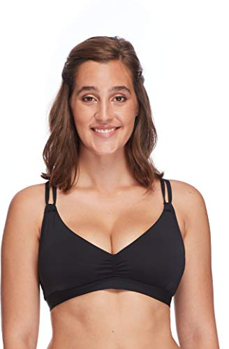 Skye Women's Sarah D, Dd, E, F Cup Bikini Top Swimsuit, Black