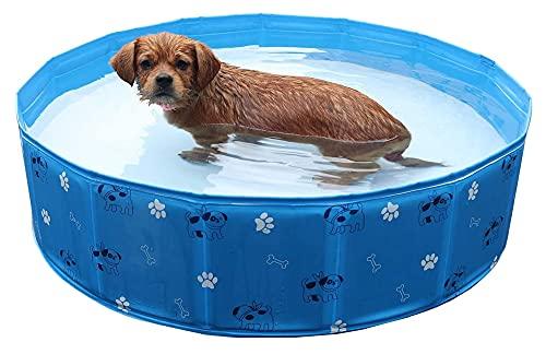 TabloKanvas Bañera para Mascotas Plegable Sin Fugas PVC Portátil Piscina de Baño...