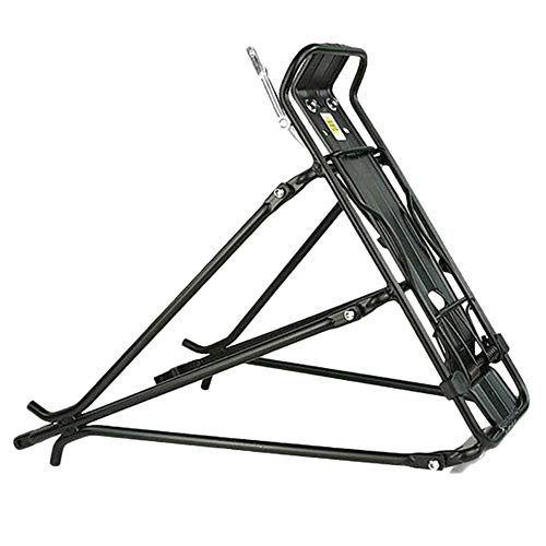 BTTHWR Rear Bike Rack - 110 Lb Aluminum Alloy Adjustable Mountain Bike Bicycle Rear Seat Luggage Shelf Rack Carrier Cycling Accessory