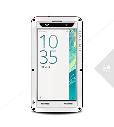 HS-TOP - Carcasa híbrida para Sony Xperia XA (impermeable, antigolpes, antipolvo), color blanco