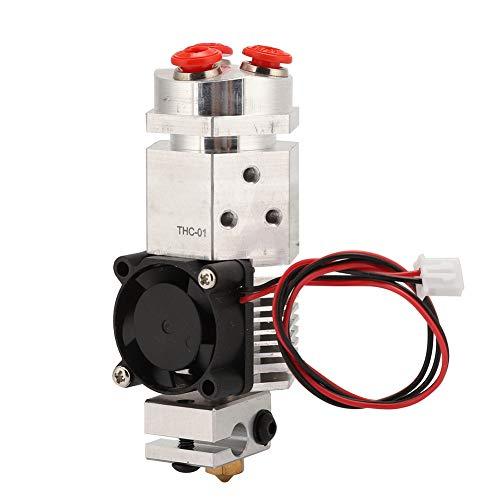Extrusora de Impresora 3d, piezas de Impresora 3D Hotend Kit THC-01 Extrusora Remota 3 Colores que Cambian 0,4 mm 1,75 mm(12V)