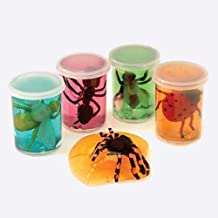 Assorted Color Insect Bug In Slime Canister Can Toys (12)