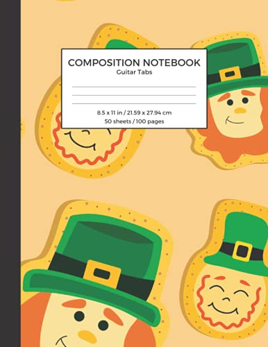 Composition Notebook Guitar Tabs: St. Patrick's Day Themed Cover, Simple Blank Guitar Music Composing Notebook