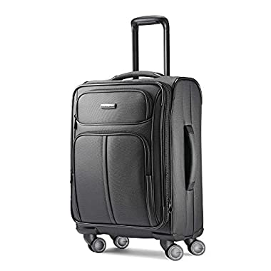 Samsonite Leverage LTE Expandable Softside Carry On with Spinner Wheels, 20 Inch, Charcoal