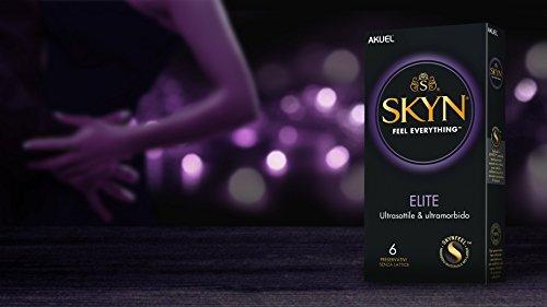 SKYN Elite, preservativi ultramorbidi e ultrasottili senza lattice, 6 pezzi