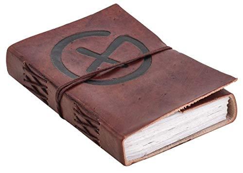 Libreta Gusti Cuero nature 'Glade' DIN A6 Libro Agenda Diario Bloc Papel Hecho a Mano Vintage Marrón P63