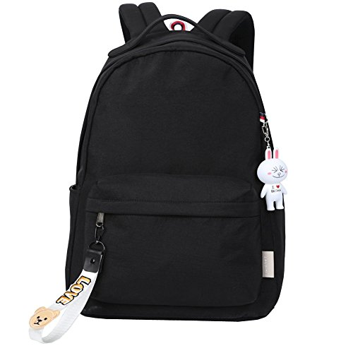 Mocha weir JIAYBL Laptop-Rucksack beiläufige Art Bookbags Kind-Schule-Rucksack College-Reisen Rucksack (schwarz 03)