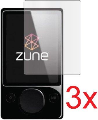 3x Microsoft Zune 80GB 120GB Premium Claro LCD Protector de Pantalla Guardia. Ajuste Exacto, sin Corte. (3Piezas por GUARMOR)