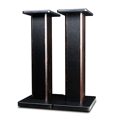 MAYQMAY 31.49 Inch (80CM) Wood Speaker Stands for Home-Cinema HiFi Desktop and Satellite Speakers Monitor Stands, Enhanced Audio Listening Experience for Home Theaters (Pair)