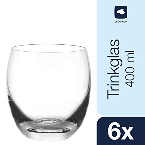 Leonardo Cheers Becher klein, 6-er Set, 400 ml, spülmaschinenfest, Teqton-Kristallglas, 060414