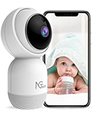 Wireless Camera for Home Security, NGTeco Baby Monitor with 1080P HD Cameras and Audio - Indoor 2.4G WiFi Cam PTZ Dome Security IP Cameras for Baby/Dog/Nanny Compatible with Alexa