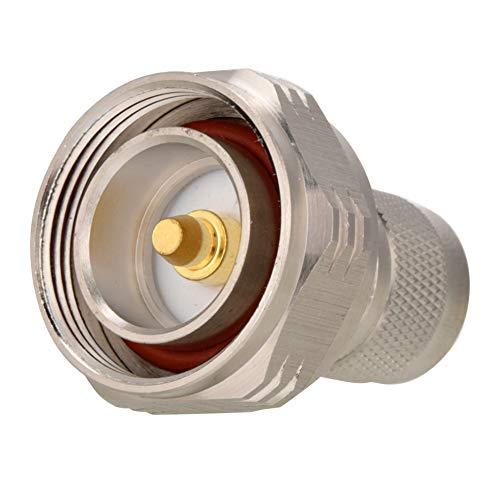 DIN Male naar N Male Adapter voor PTFE, 50Ω coaxiale connector voor RF-toepassingen, antennes, draadloze LAN-apparaten, koper- en vernikkelen, Rf-adapterconnector