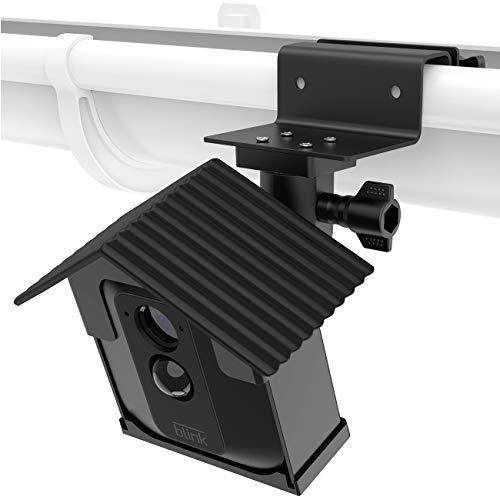 LUXACURY Blink XT Kamera Halterung mit Schutz hülle,Dachrinnen Wandhalterung Regenrinnenhalterung für Blink XT Heimkamerasystem Größerer Betrachtungswinkel Wetterfeste Halterung