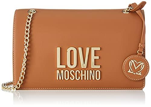 Love Moschino, Borsa a Spalla da Donna, Pre Collezione Autunno Inverno 2021, Marrone, U