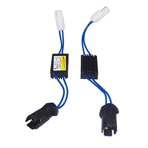 Haobase 2 Stück Warning Canceller Canbus Widerstände T10 - W5W, beseitigt Leuchtfehler, LED-Leuchten.