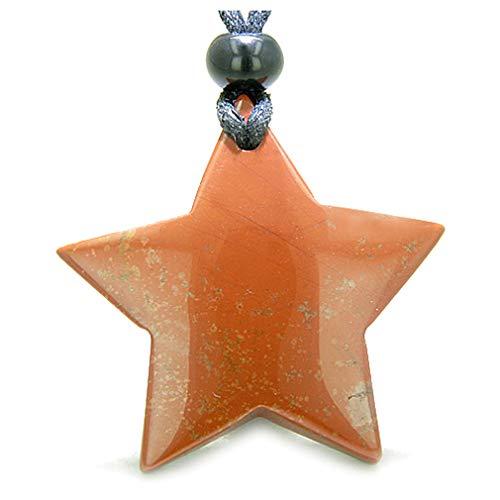 BestAmulets Amulet Magic Five Pointed Super Star Red Jasper Good Luck...