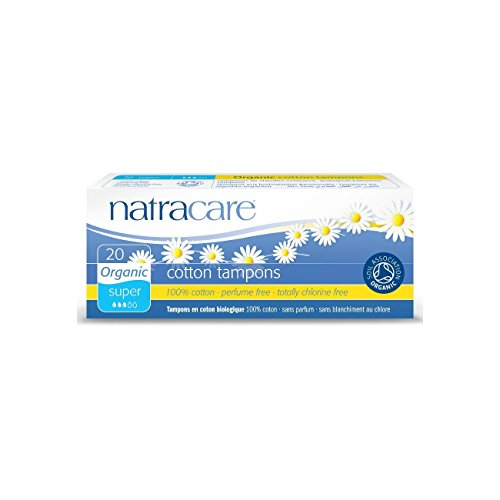 Natracare Organic Non Applicator Tampons Super 20 Per Pack